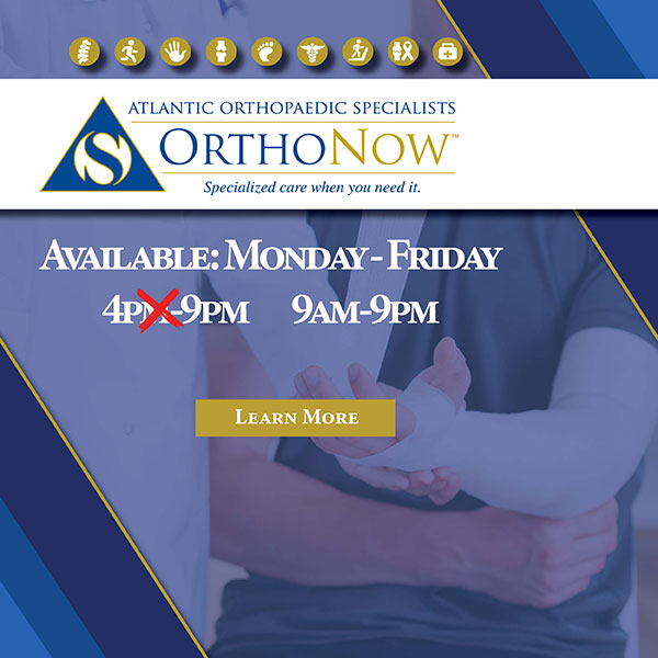OrthoNow Available 9am to 9pm